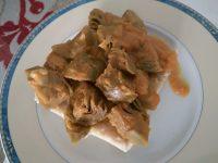 Alcachofas en salsa con mijo